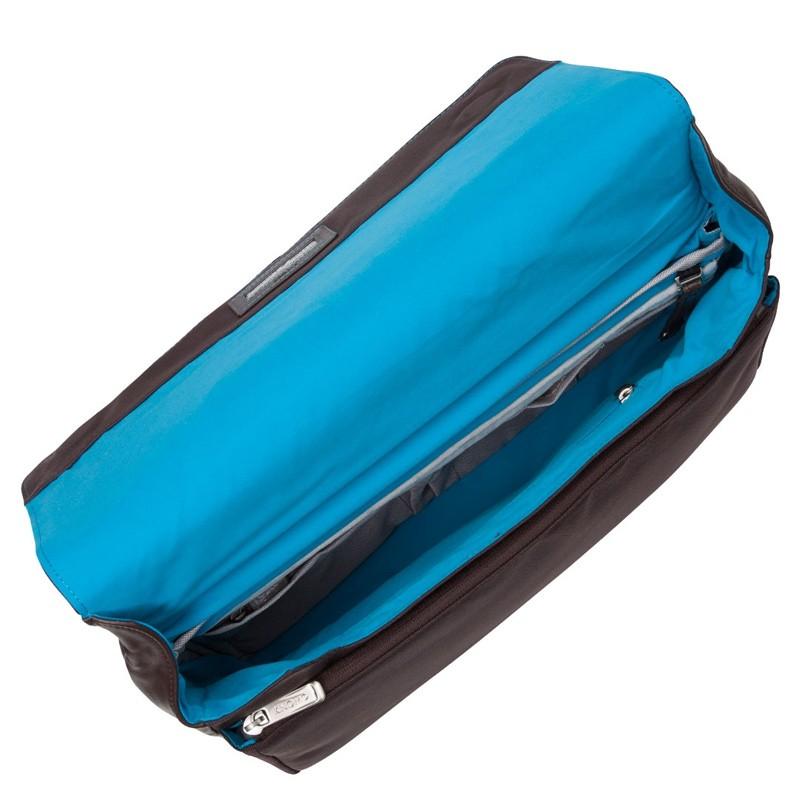 Knomo - Kinsale 13 inch Laptop Messenger Brown 04