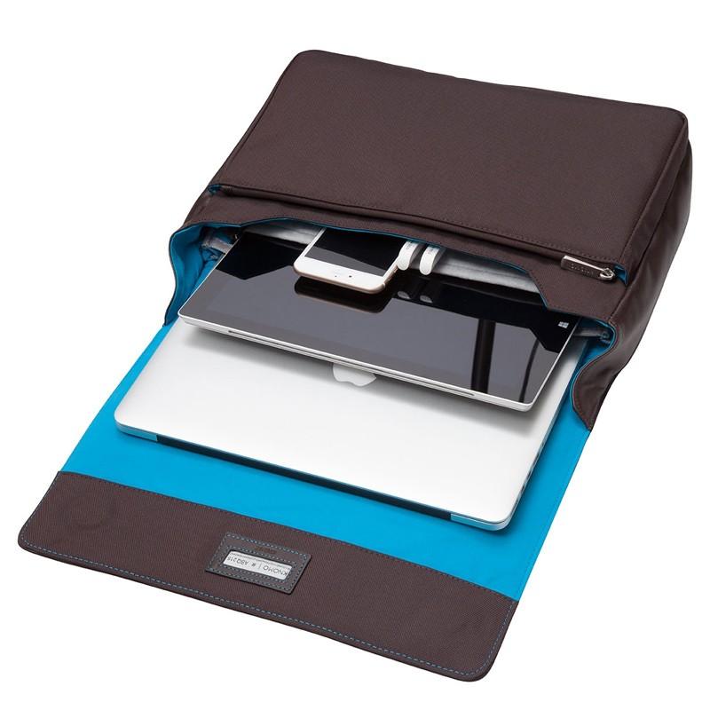 Knomo - Kinsale 13 inch Laptop Messenger Brown 02