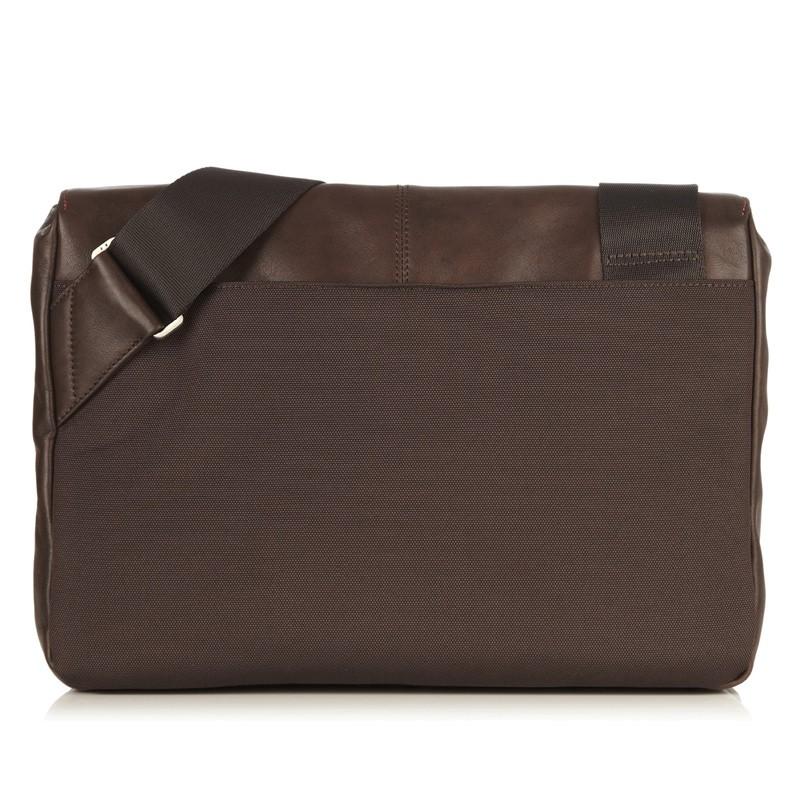 Knomo - Kinsale 13 inch Laptop Messenger Brown 05