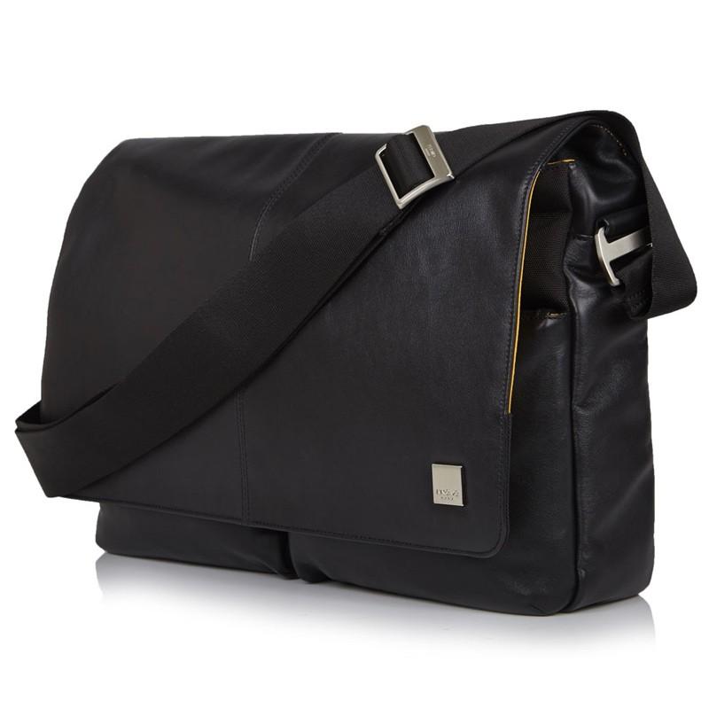 Knomo - Kobe 15 inch Laptop Messenger Black 01