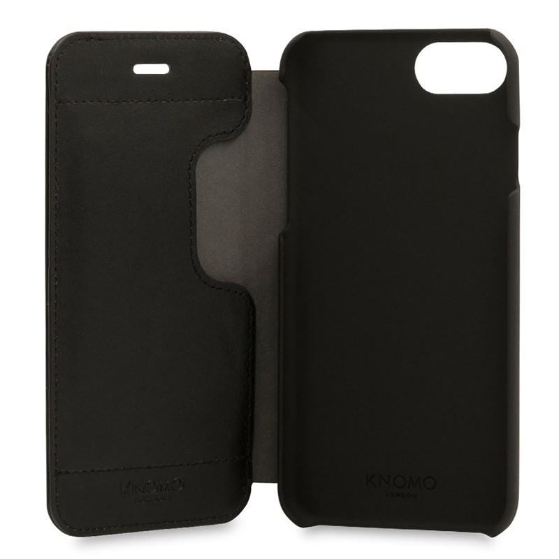 Knomo Leather Folio iPhone 7 Black 05