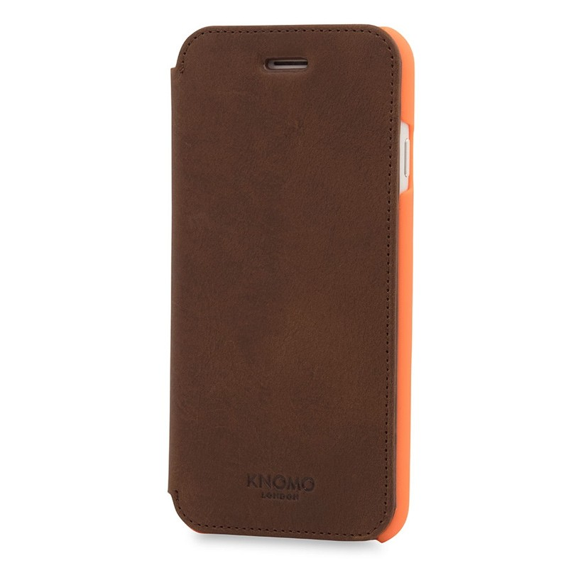 Knomo Leather Folio iPhone 7 Brown 03