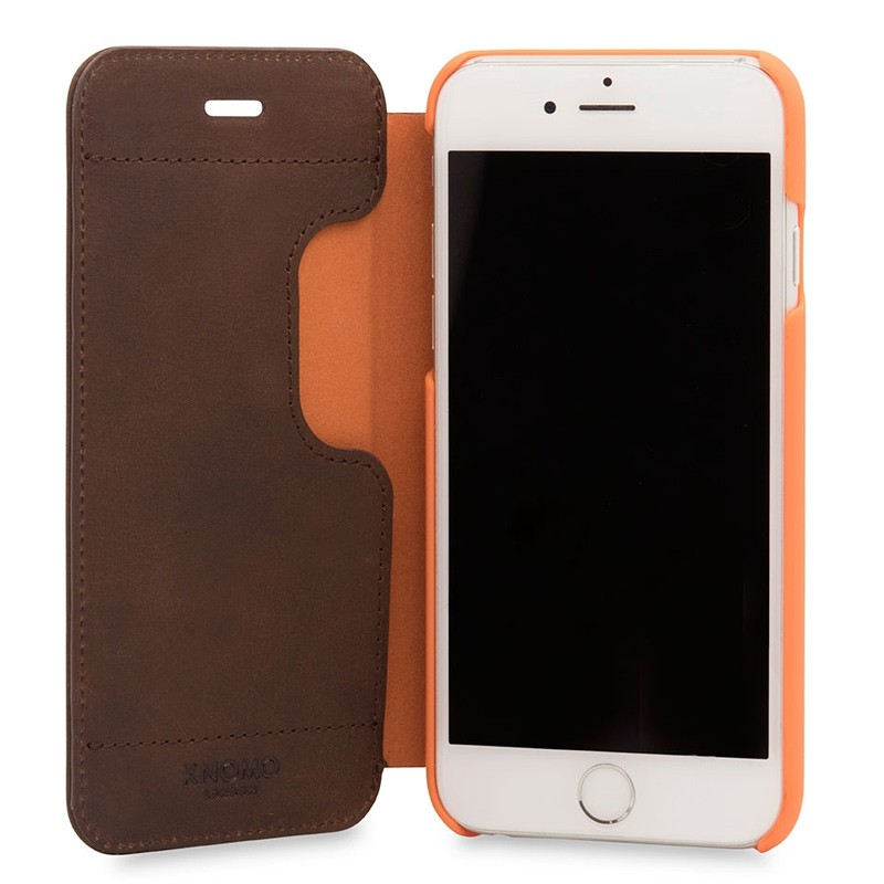 Knomo Leather Folio iPhone 7 Brown 04