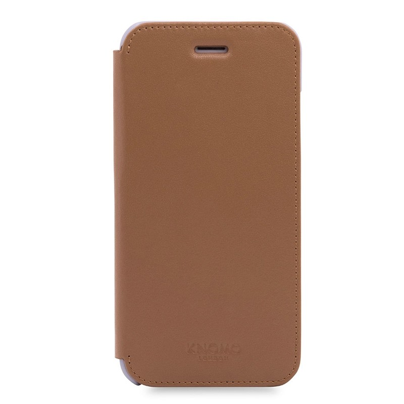 Knomo Leather Folio iPhone 7 Caramel 01