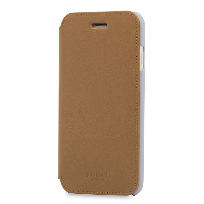 Knomo Leather Folio iPhone 7 Caramel 02