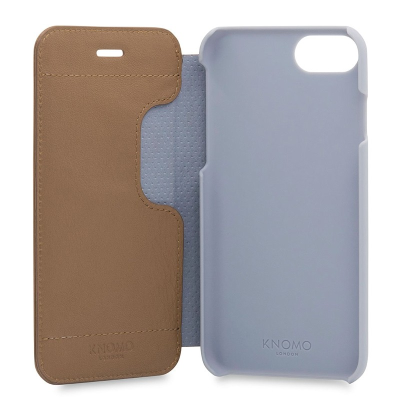 Knomo Leather Folio iPhone 7 Caramel 05