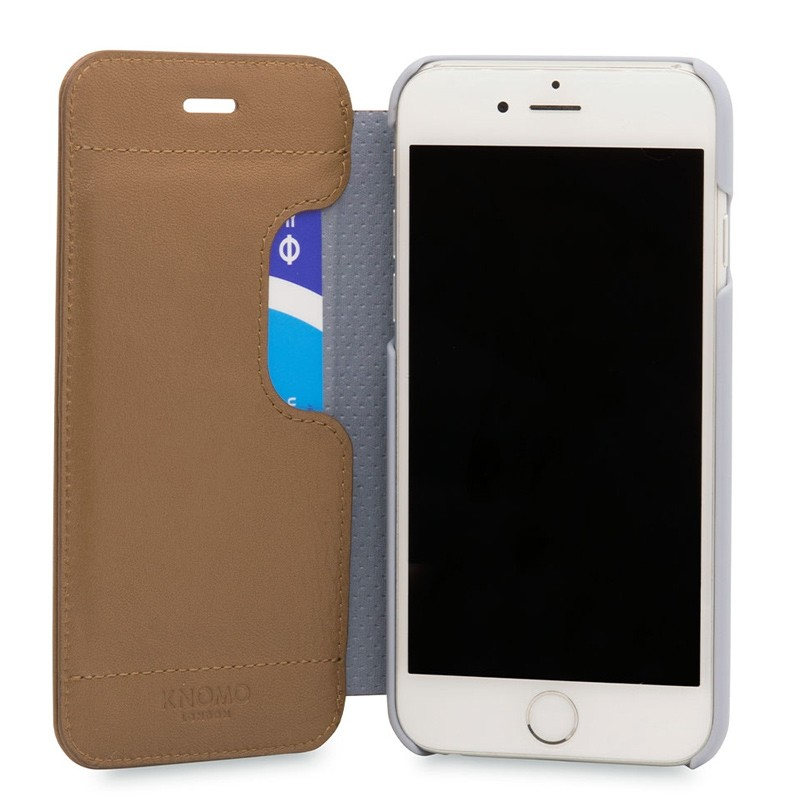 Knomo Leather Folio iPhone 7 Caramel 04