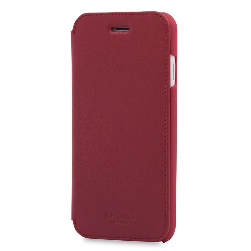 Knomo Leather Folio iPhone 7 Chili 02