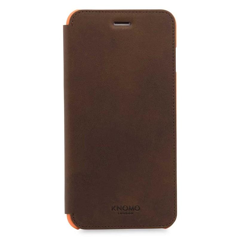 Knomo Leather Folio iPhone 7 Plus Brown 01