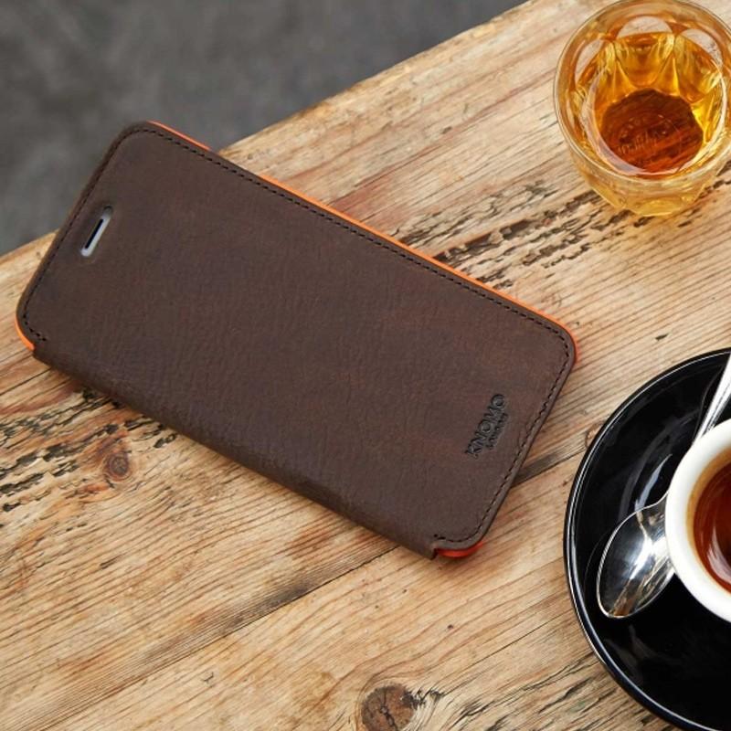 Knomo Leather Folio iPhone 7 Plus Brown 05