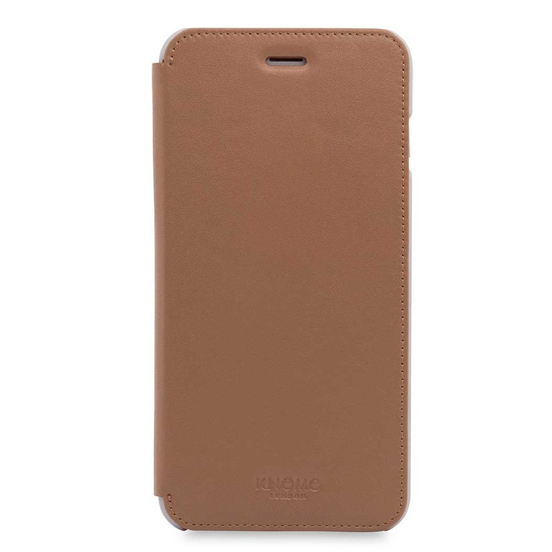 Knomo Leather Folio iPhone 7 Plus Caramel 01