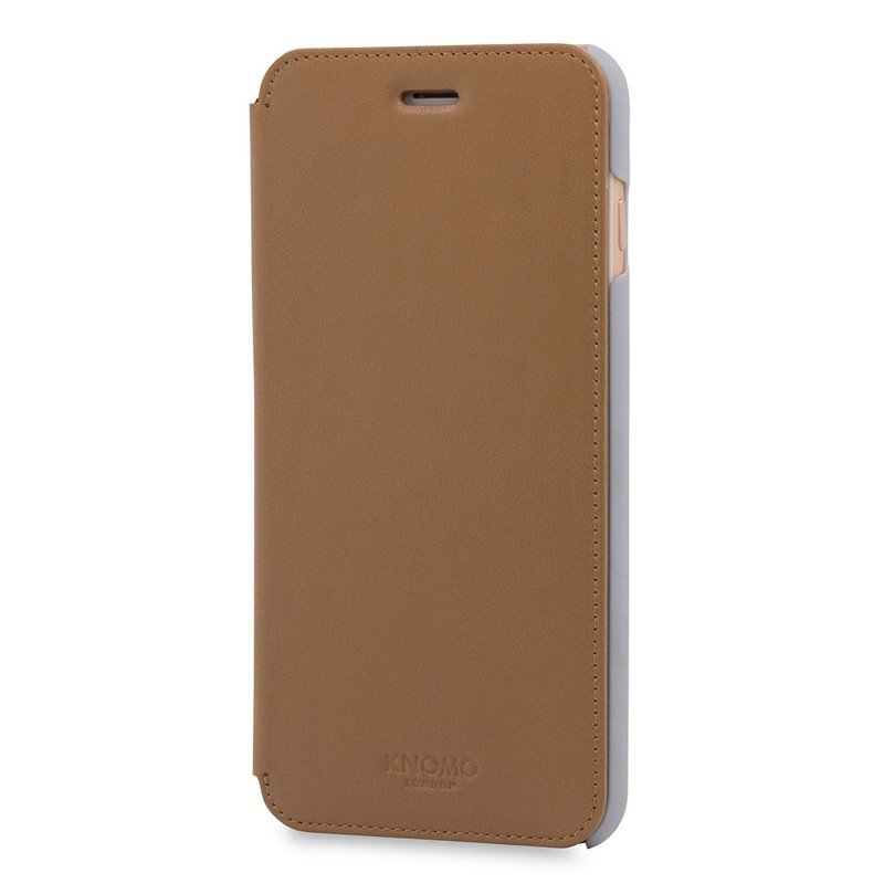 Knomo Leather Folio iPhone 7 Plus Caramel 02