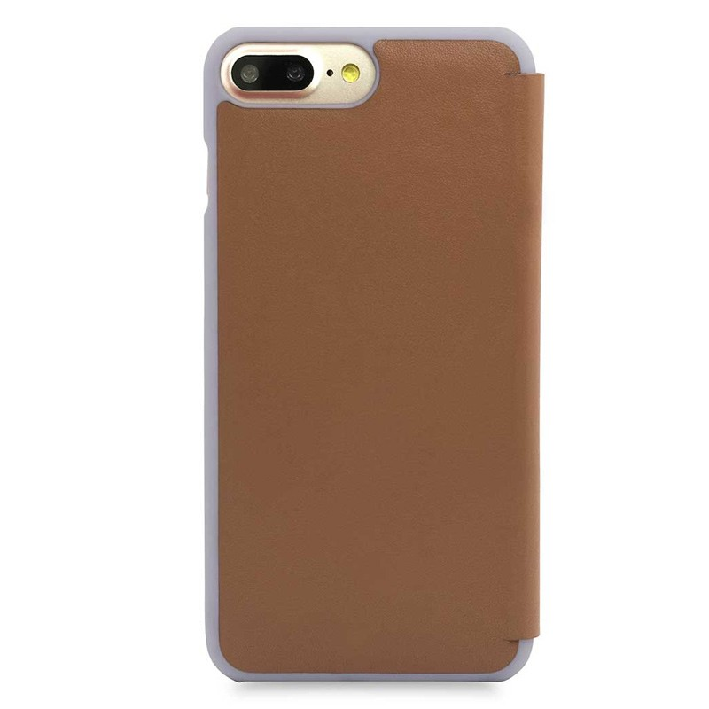Knomo Leather Folio iPhone 7 Plus Caramel 03