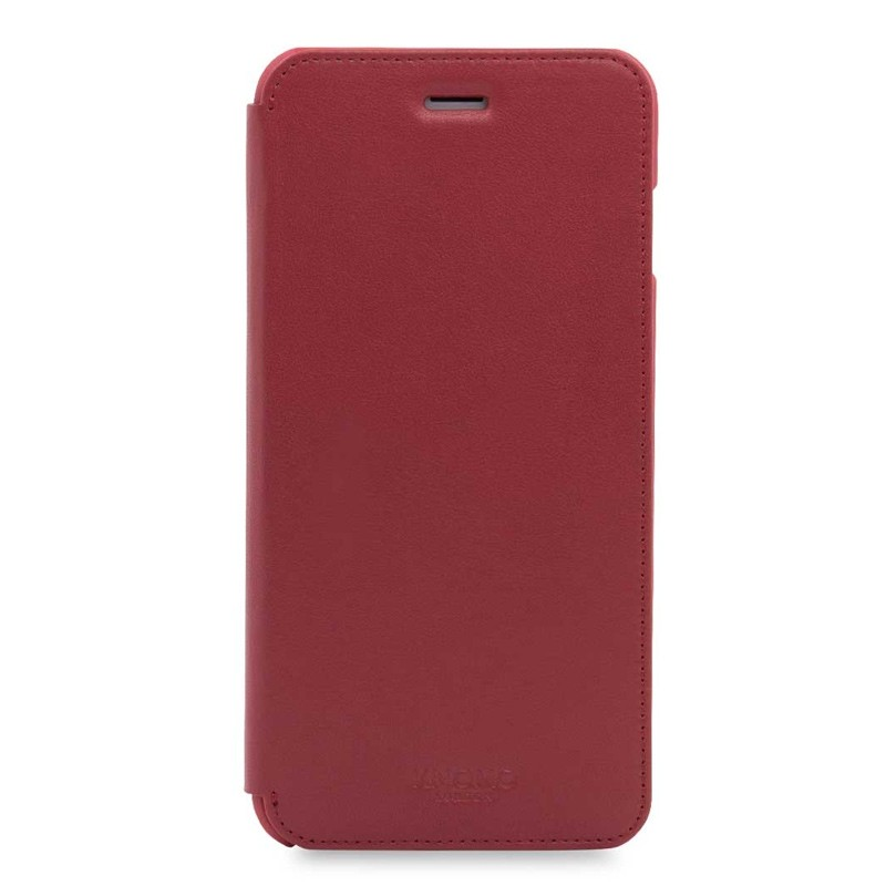 Knomo Leather Folio iPhone 7 Plus Chili 01