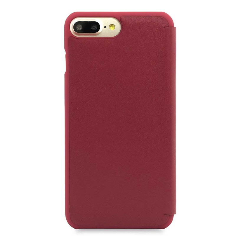 Knomo Leather Folio iPhone 7 Plus Chili 03