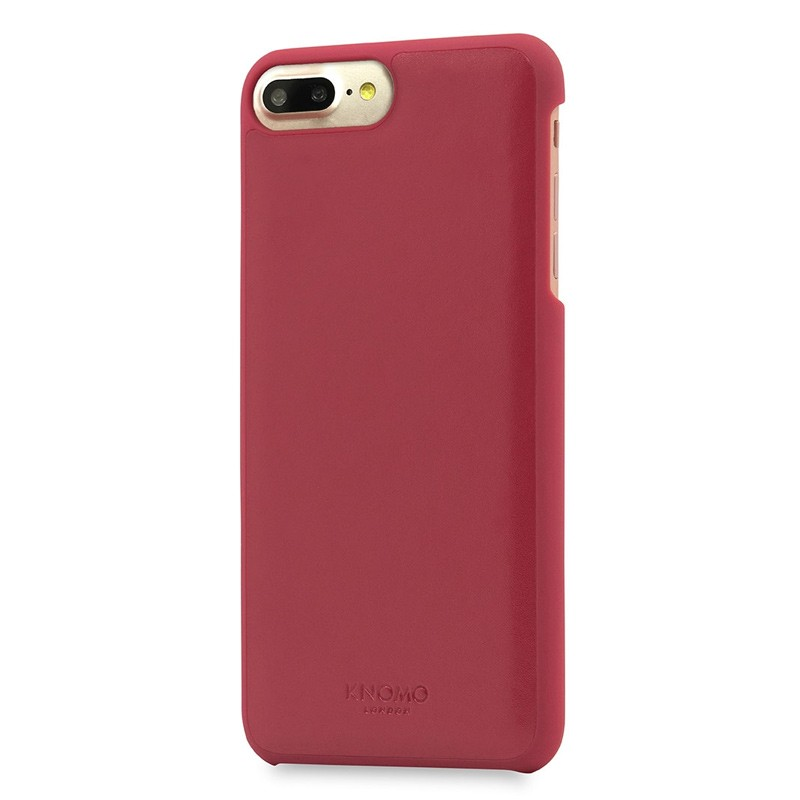 Knomo Leather Snap On Hoes iPhone 7 Plus Chili 01