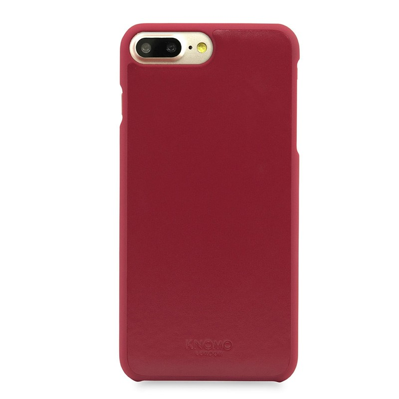 Knomo Leather Snap On Hoes iPhone 7 Plus Chili 02