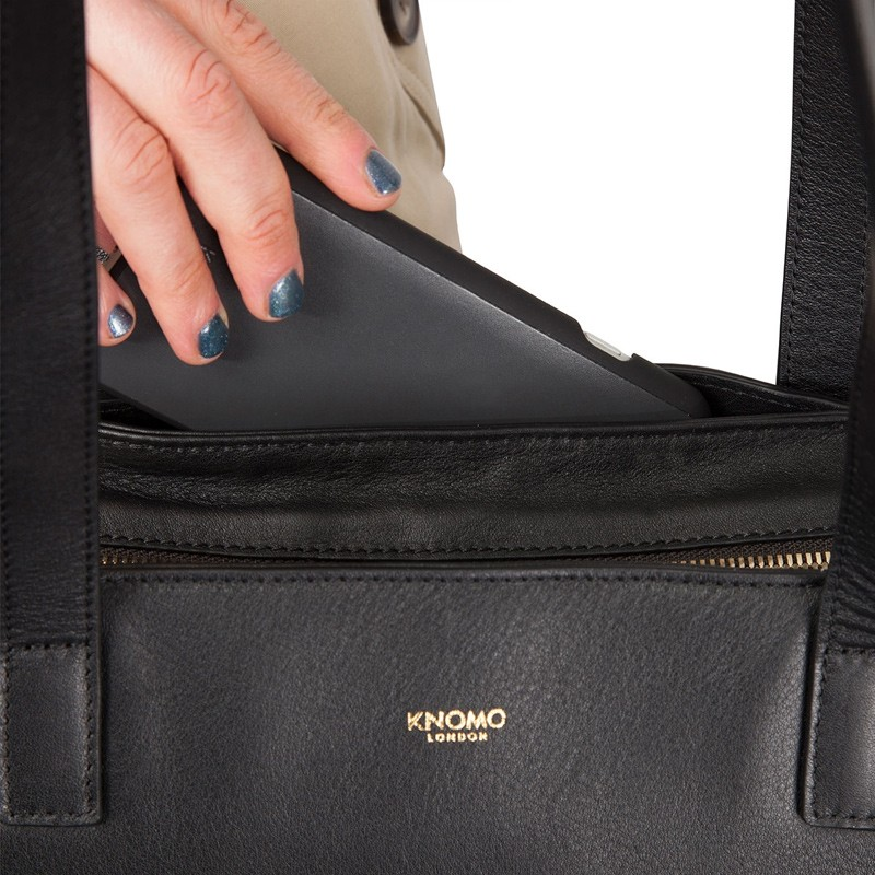 Knomo - Maddox 15 inch Zip Top Laptoptas Black 06
