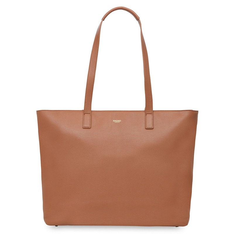Knomo - Maddox 15 inch Zip Top Laptoptas Caramel 02