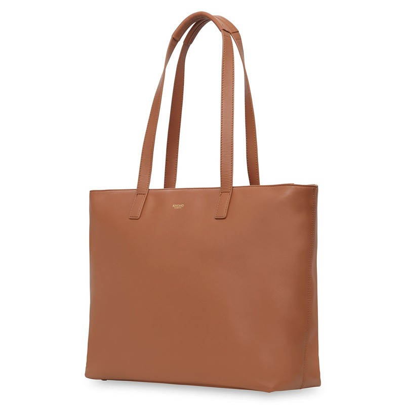 Knomo - Maddox 15 inch Zip Top Laptoptas Caramel 01