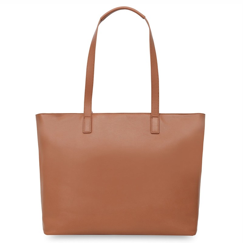 Knomo - Maddox 15 inch Zip Top Laptoptas Caramel 05