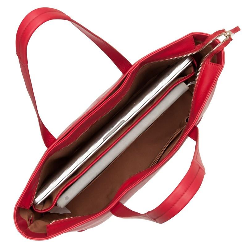 Knomo - Maddox 15 inch Zip Top Laptoptas Red 04