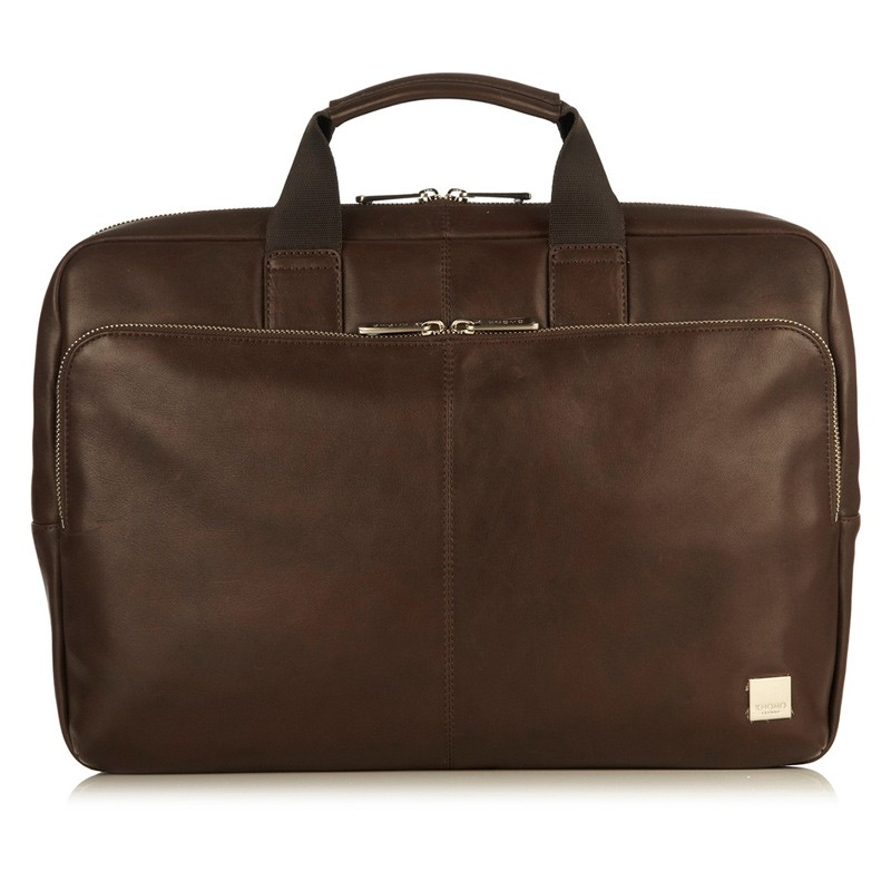 Knomo - Newbury Lederen 15 inch Laptoptas Brown 02