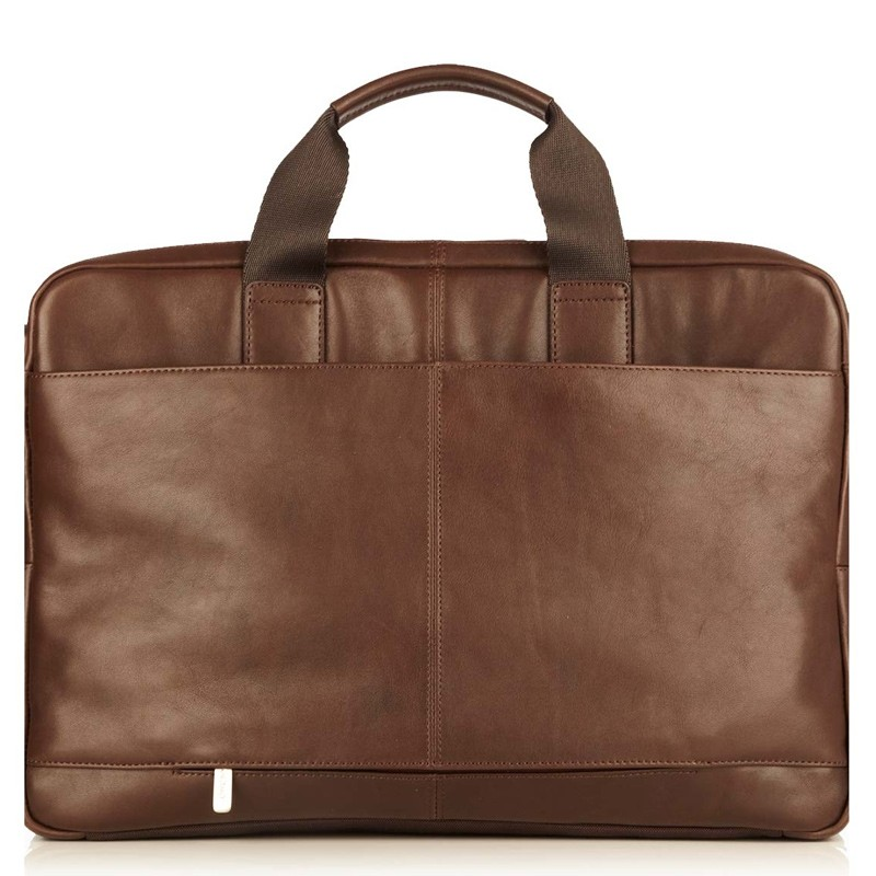 Knomo - Newbury Lederen 15 inch Laptoptas Brown 04