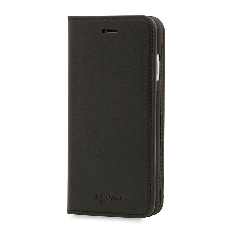 Knomo Premium Leather Folio iPhone 7 Black 03