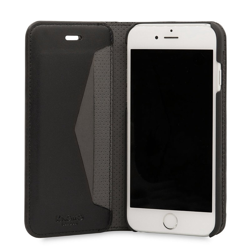 Knomo Premium Leather Folio iPhone 7 Black 04