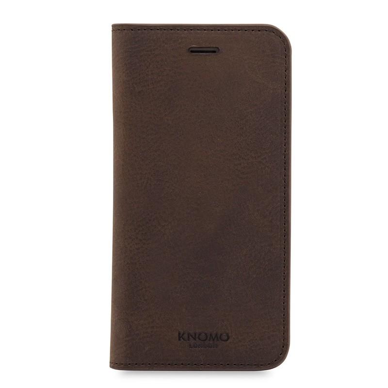 Knomo Premium Leather Folio iPhone 7 Brown 01