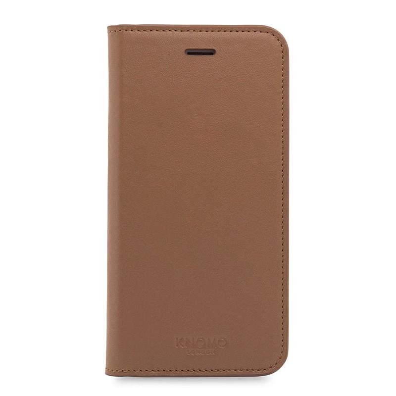 Knomo Premium Leather Folio iPhone 7 Caramel 01