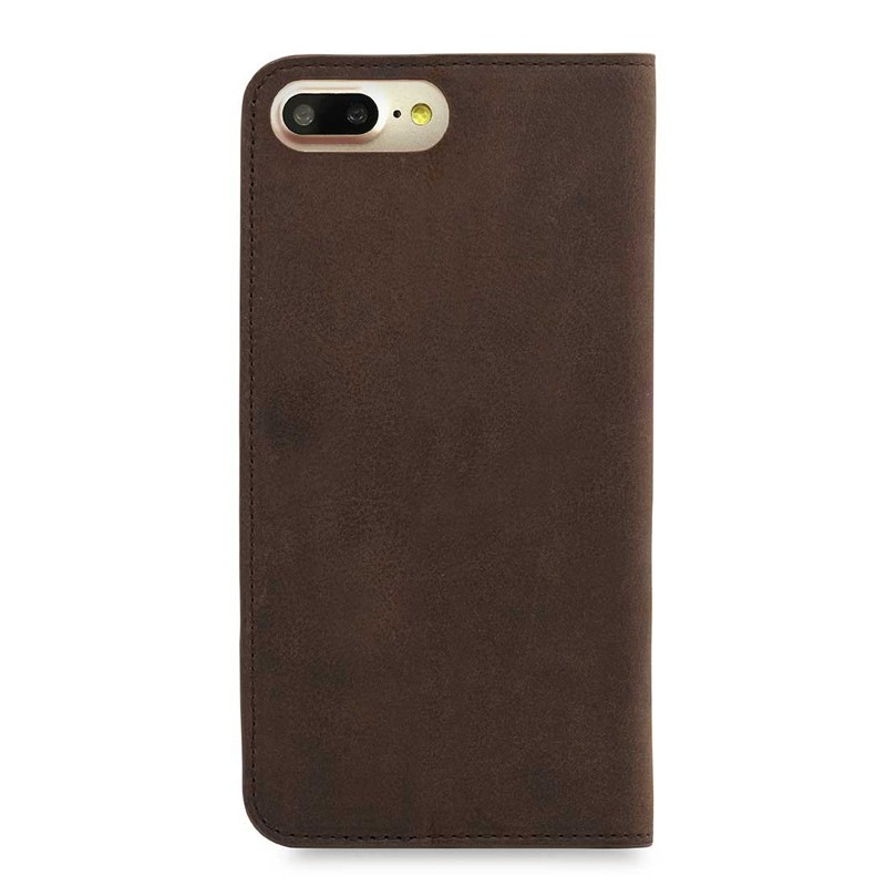 Knomo Premium Leather Folio iPhone 7 Plus Brown 02