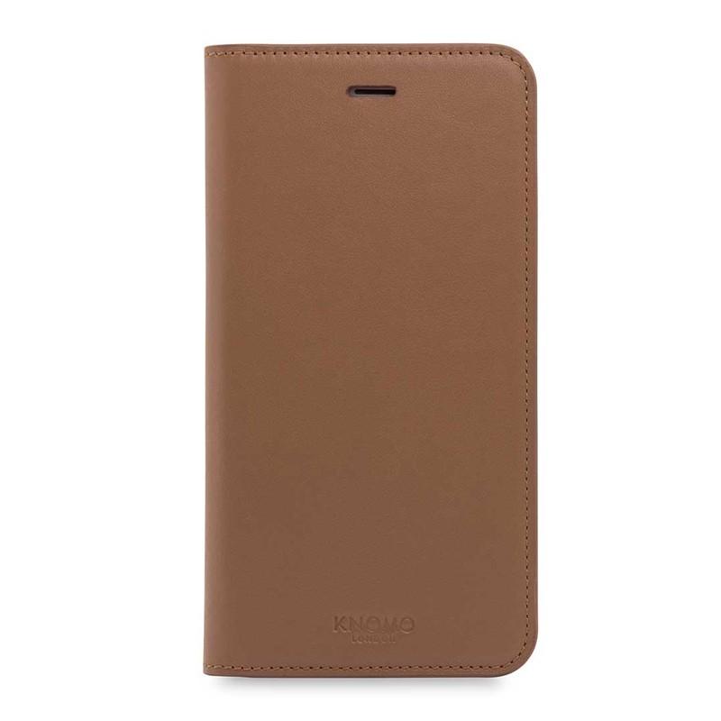 Knomo Premium Leather Folio iPhone 7 Plus Caramel 01