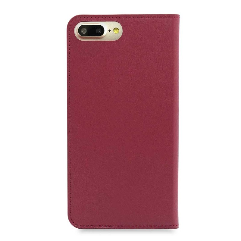 Knomo Premium Leather Folio iPhone 7 Plus Chili 02