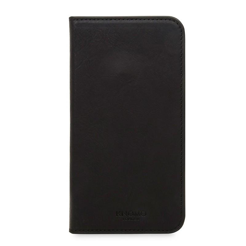 Knomo Premium Leather Folio iPhone X Zwart - 2