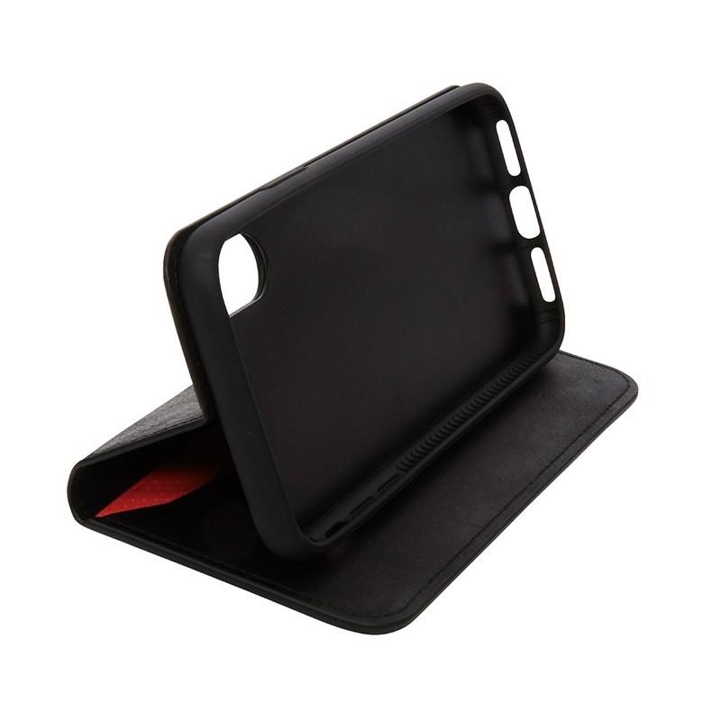 Knomo Premium Leather Folio iPhone X Zwart - 4