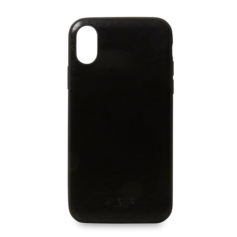 Knomo Leather Snap On Case iPhone X Black - 1
