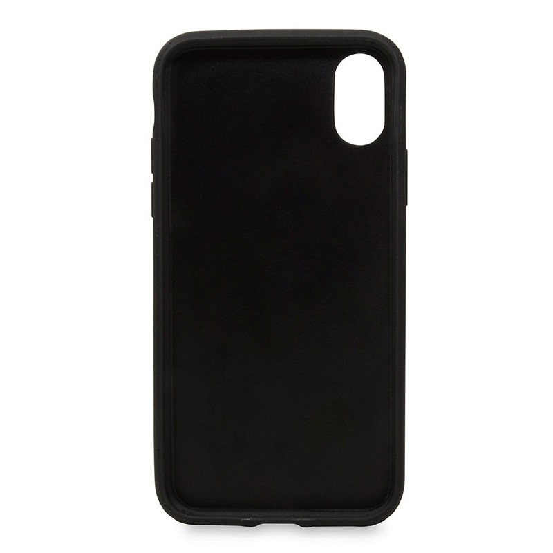 Knomo Leather Snap On Case iPhone X Black - 3