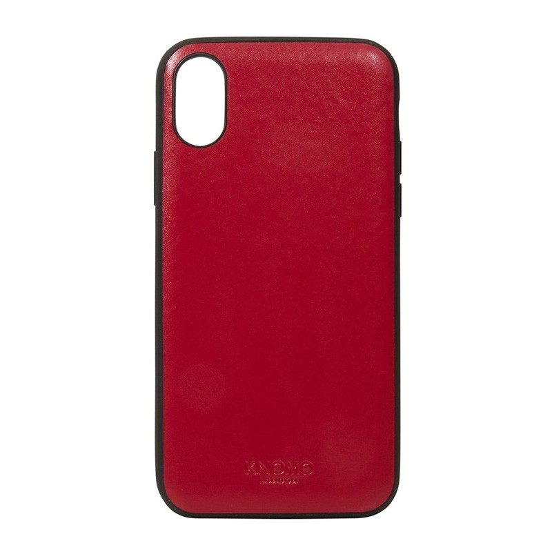 Knomo Leather Snap On Case iPhone X Chili Red - 1