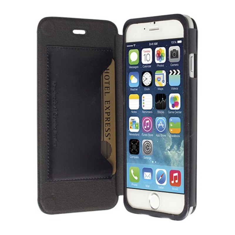 Krusell  Kiruna Leather BookCover iPhone 6 Black - 1