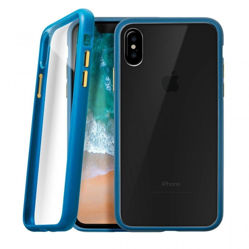 LAUT Accents iPhone X/Xs Petrol Blue/Clear - 1