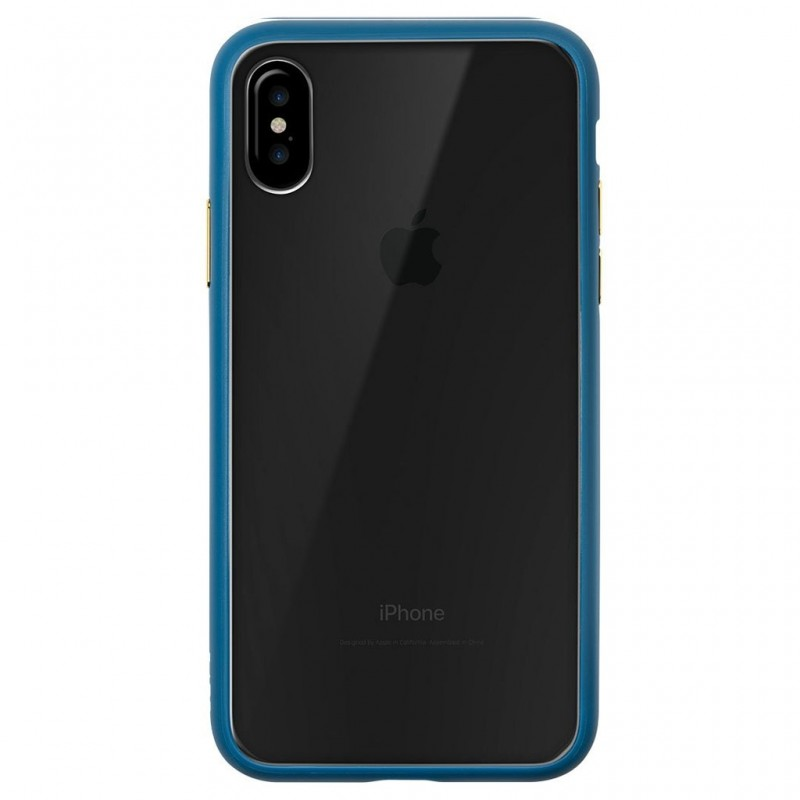 LAUT Accents iPhone X/Xs Petrol Blue/Clear - 2