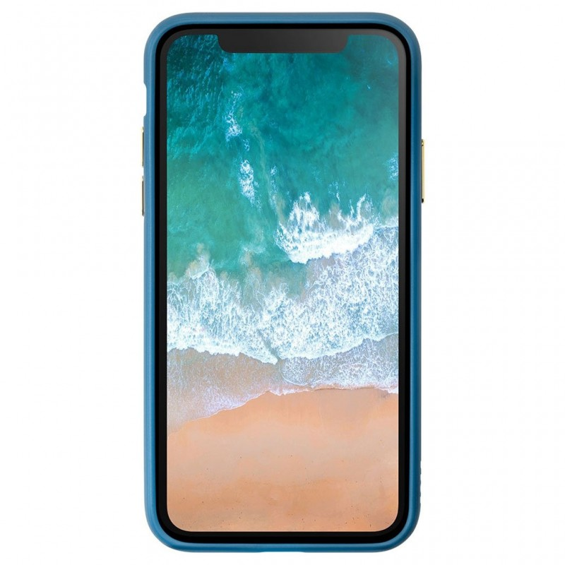LAUT Accents iPhone X Petrol Blue/Clear - 3