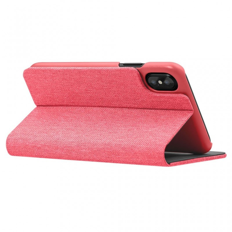 LAUT Apex Knit iPhone X Wallet Coral Pink - 5