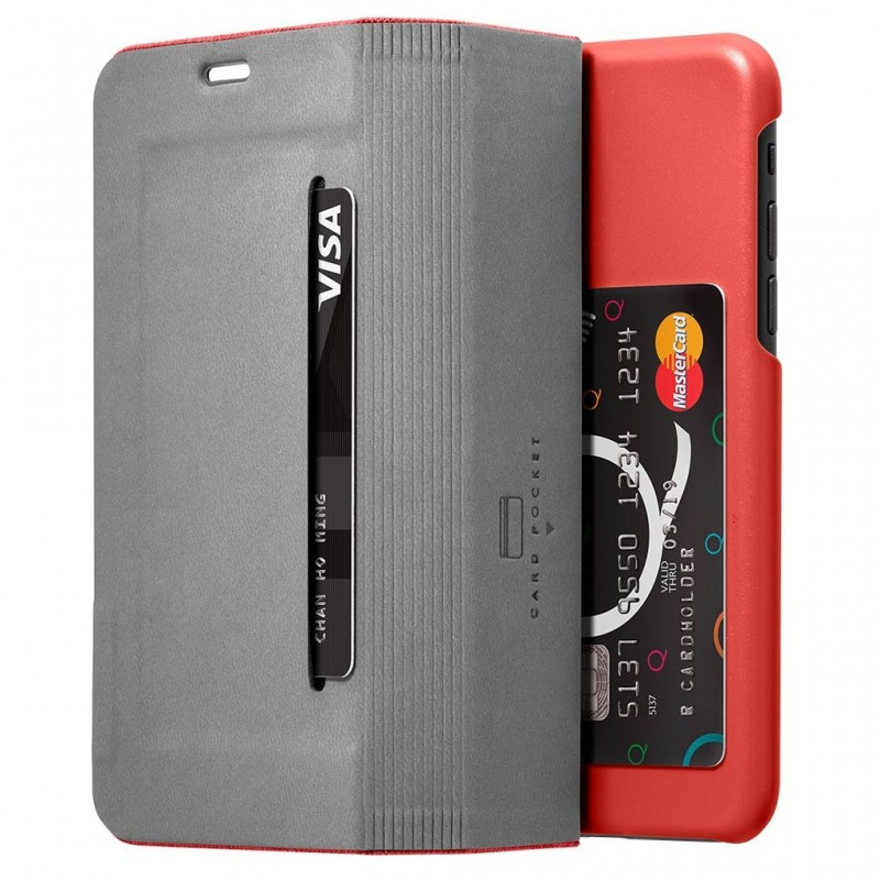 LAUT Apex Knit iPhone X/Xs Wallet Crimson Red - 4