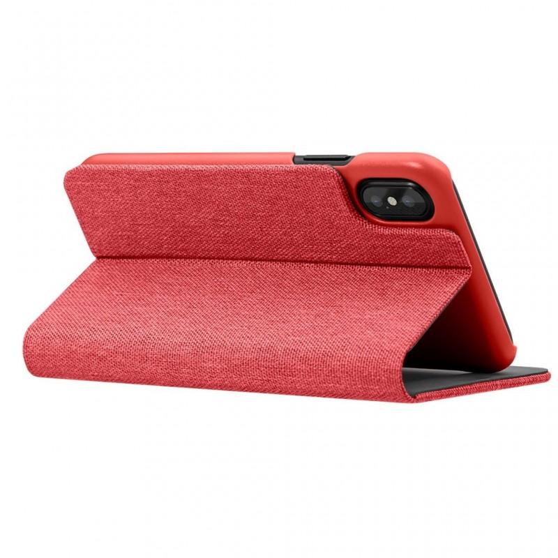 LAUT Apex Knit iPhone X/Xs Wallet Crimson Red - 5