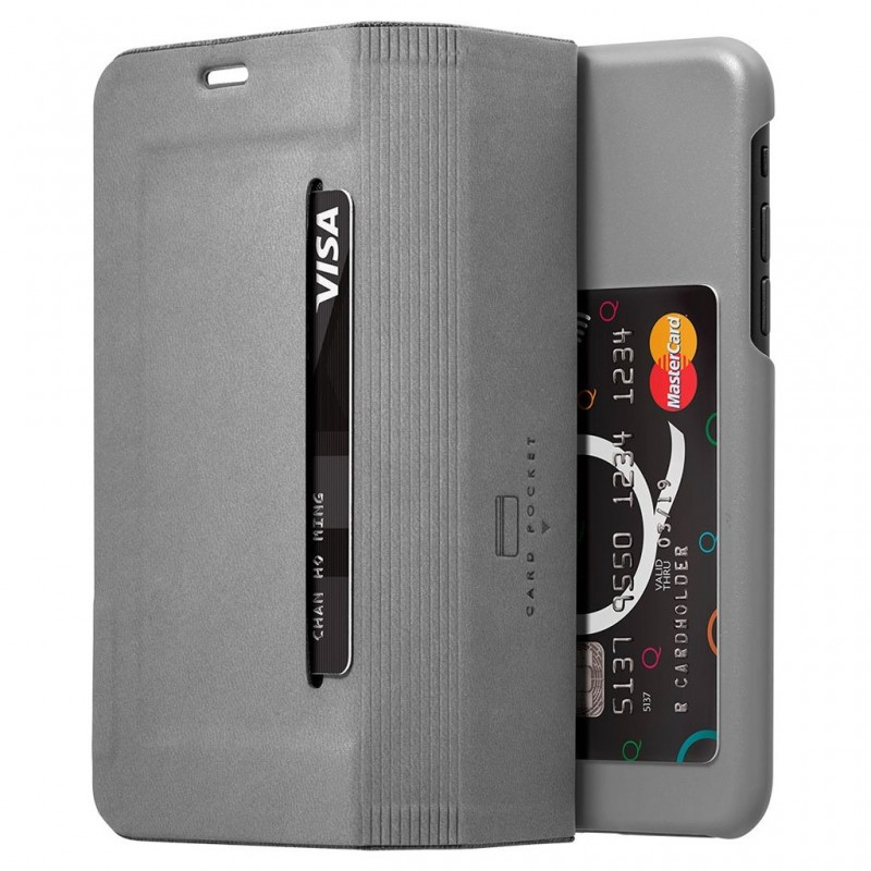 LAUT Apex Knit iPhone X/Xs Wallet Granite Grey - 4