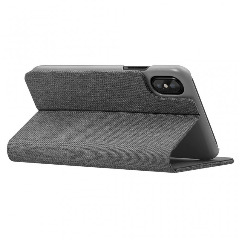 LAUT Apex Knit iPhone X/Xs Wallet Granite Grey - 5