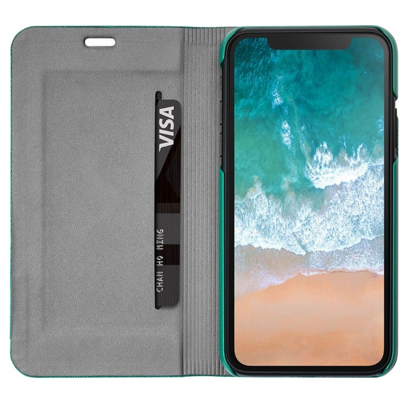 LAUT Apex Knit iPhone X/Xs Wallet Jade Green - 3